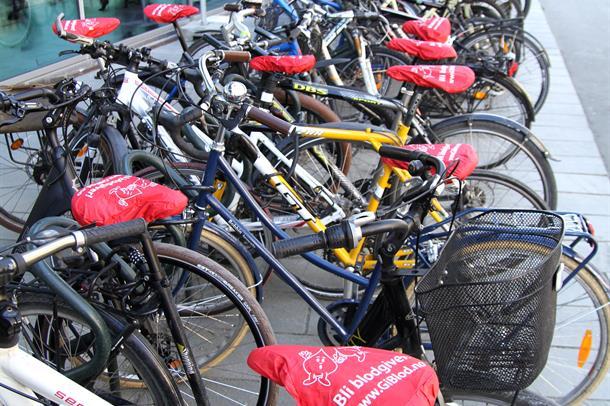 Sykler med setetrekk: Verdens blodgiverdag 2016. Foto