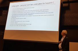Svein Høegh Henriksen fra Helsedirektoratet presenterte handlingsplan for Hepatitt C.jpg