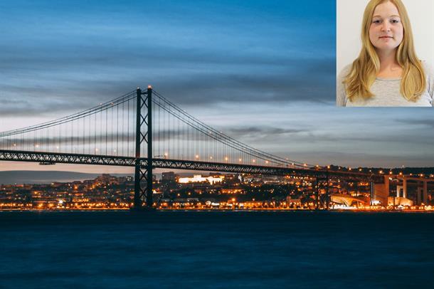 bilde fra bro i Lisboa