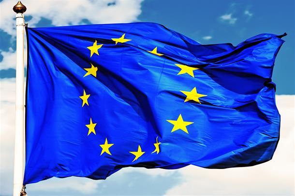 Veivende EU-flagg